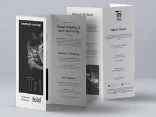 Psd Tri Fold Mockup US A4 Vol3