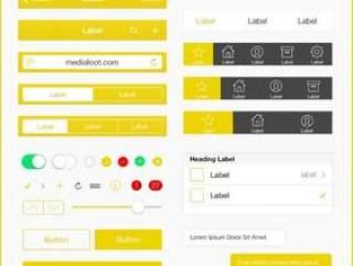 iOS 7 UI 图标 黄色系列