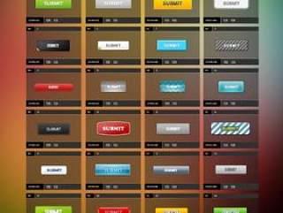 多种网页按钮PSD