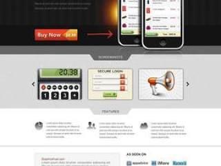 欧美风格企业网站模板二