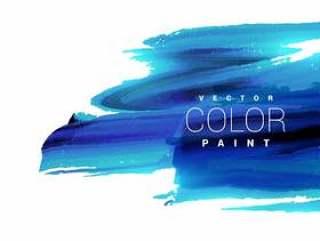 明亮的蓝色墨水油漆污点矢量