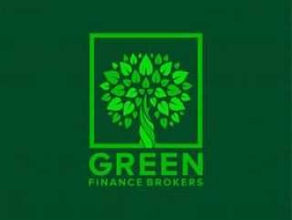 绿色金融标志设计与树木