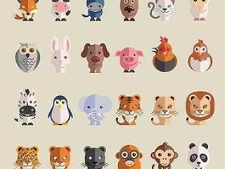 扁平动物图标
