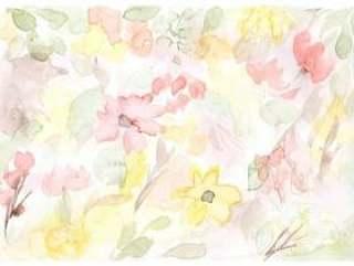 抽象花卉水彩背景