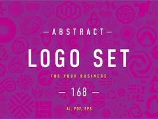 168个抽象LOGO设计模板矢量素材