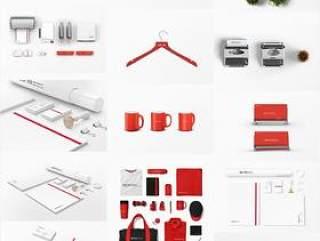 40款日本极简全套VI贴图样机展示模型素材PSD源文件打包下载