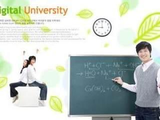 学校教育人物PSD分层素材二