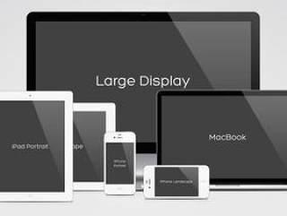 网页项目效果展示Apple家族全系列PSD