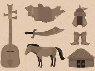蒙古项目集合矢量图