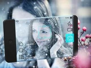 手机照相机APP界面PSD分层