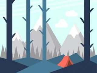 在自然中露营