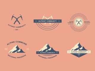 登山标志集