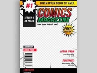 漫画杂志书籍封面模板设计