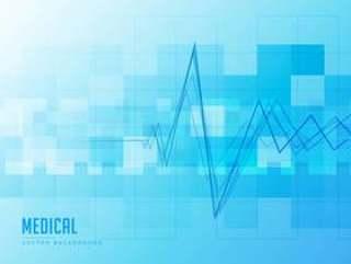 与心跳线的蓝色医疗背景