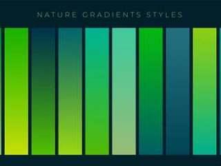 套新鲜的绿色渐变背景