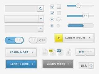 精致网页常用元素02——PSD分层素材