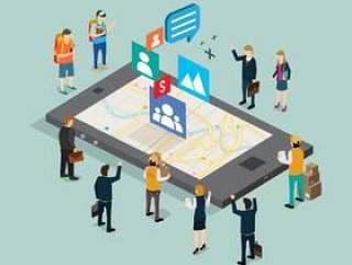 社交媒体技术矢量素材下载