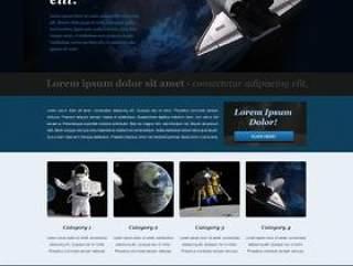 国际太空航空类网站PSD