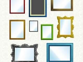 色彩缤纷的框架集——psd分层素材