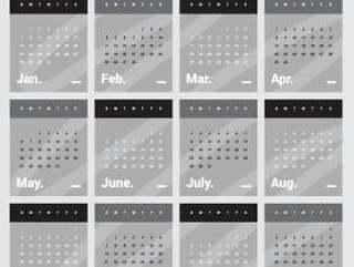 可打印日历2018年