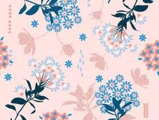 在柔和的颜色混合的时尚几何花