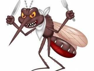 动画片蚊子准备好吃