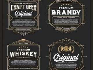 复古框架设计标签,横幅,贴纸和其他设计
