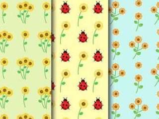 复古花卉图案