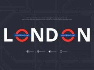 地铁伦敦交通运动。地铁。地铁公共交通运动。