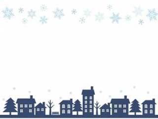 冬季城市天际线轮廓框架