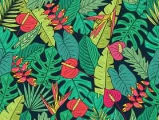 热带植物无缝模式