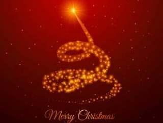 用金闪闪发光做的圣诞树设计