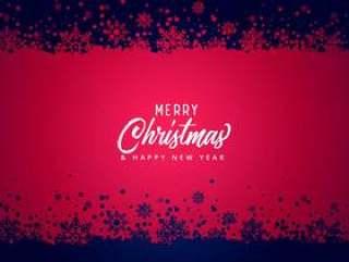 圣诞快乐圣诞雪花矢量背景