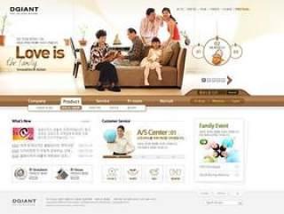 企业网站模板PSD分层(760)