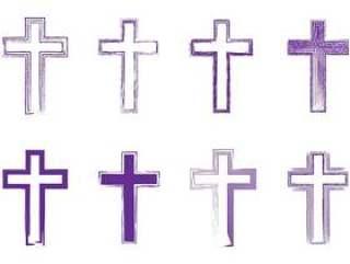 抽象艺术线条借出的十字架