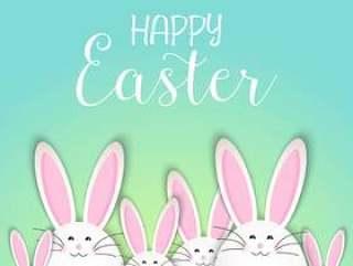 可爱的复活节兔子背景