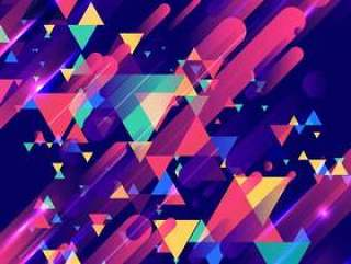 Abstract colorful elements modern geometric colorful