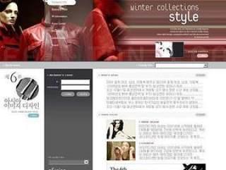 韩国某模特交流网站首页模板