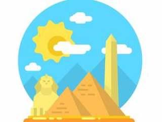 埃及的平景观