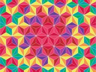 五颜六色的三角几何图案背景