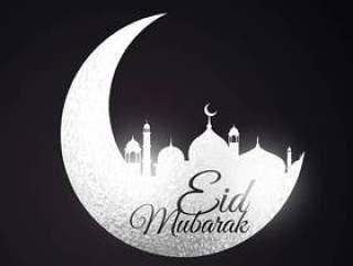 与月亮和清真寺的节日背景