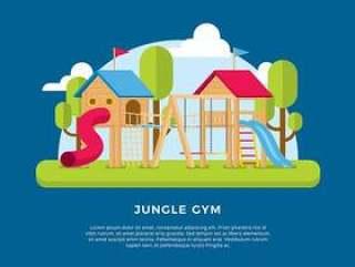丛林健身房模板 矢量