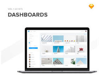 在Sketch,40 Web Dashboard UI Kit中设计的40个仪表板UI屏幕