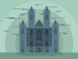 威斯敏斯特修道院地标矢量图