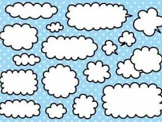 手写的云彩和气球材料设置01