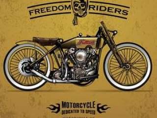 经典赛摩托车海报