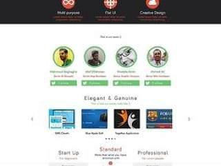 工作室网页模板PSD分层