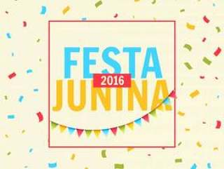 与五彩纸屑的节日junina庆祝