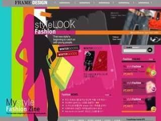 时尚网站网页模板
