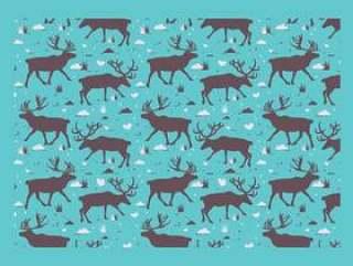 北美驯鹿剪影样式传染媒介